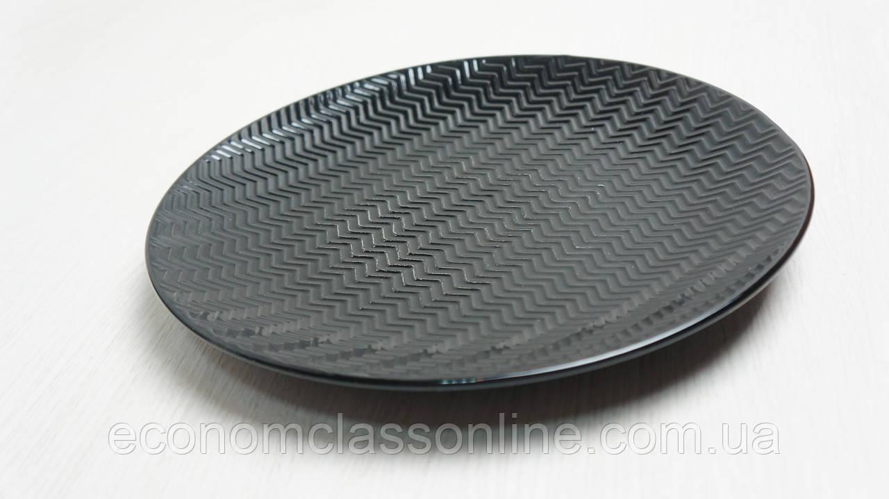 Тарелка керамическая черная - фото 3