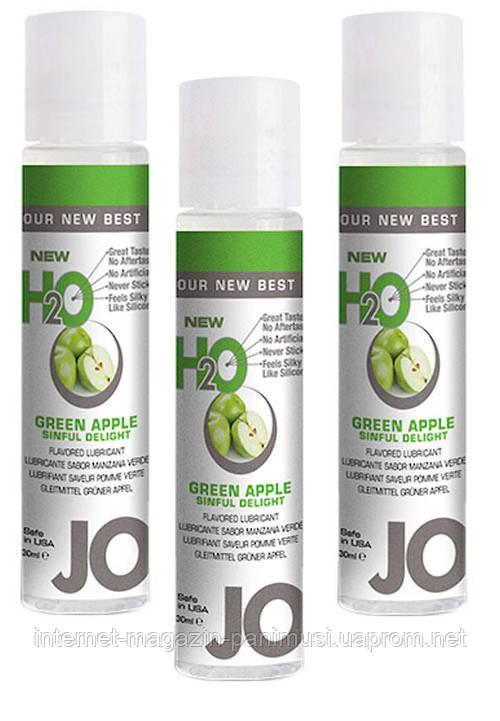Зеленое яблоко Гель смазка для секса лубрикант на силиконовой основе H2O 30мл. Orginal USA