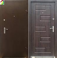 Двері вхідні Бастіон-БЦ Порошок-Еліт Б-288 ПВХ-80, двері для квартири, офісу, двері броньовані