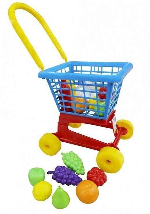 """Тележка """"Supermarket"""" №1 + набор продуктов №2 (в сеточке)"""