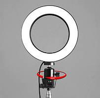 Светодиодная кольцевая лампа кольцо для селфи фото с держателем для телефона 16см (LED/Лед свет, Selfie)