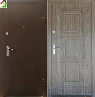 Двері вхідні Бастіон-БЦ Порошок-Еліт Б-262 ПВХ-01, двері для квартири, офісу, двері броньовані