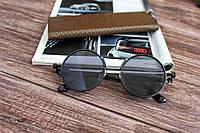 Круглые солнцезащитные очки V0207 черные