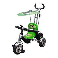 @@@@@Велосипед М 5342 B10,EVA Foam,три колеса,съём корз,крыша,ручка,зеленый,в кор-ке,58-87-49см