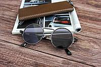 Круглые солнцезащитные очки V0208 черные