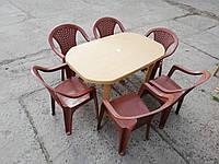 """Комплект садовой мебели """"Карамель""""! Стол большой + 6 кресел!, фото 1"""