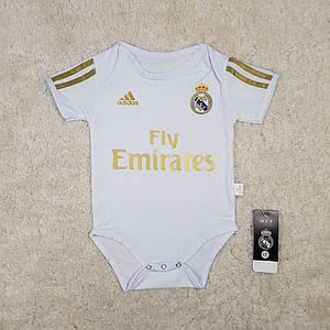 Детский бодик Реал Мадрид (Real Madrid) белый