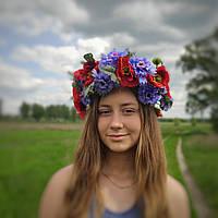 Вінок український із маків та волошок