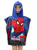 Полотенце пончо с капюшоном Человек-паук, 100% хлопок Spider man