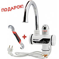 Проточный водонагреватель воды Delimano с LCD экраном + ПОДАРОК!