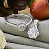 Серебряный набор ТС9510168н кольцо размер 18 + кулон 15х9 мм для цепочки шириной до 2 мм вставка белые фианиты, фото 2