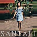 Короткое летнее платье с открытыми плечами и воланами 45py1376, фото 2