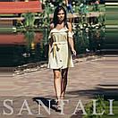 Короткое летнее платье с открытыми плечами и воланами 45py1376, фото 3