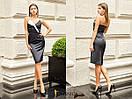 Атласное платье по фигуре с открытыми плечами и фигурным вырезом 31py1385, фото 2