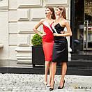 Атласное платье по фигуре с открытыми плечами и фигурным вырезом 31py1385, фото 3