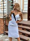 Атласное платье по фигуре с открытыми плечами и фигурным вырезом 31py1385, фото 4