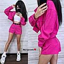 Вельветовый женский костюм с шортами и курткой 9ks902, фото 3