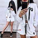 Бархатный костюм шорты и свободная мастерка на молнии 9ks903, фото 7