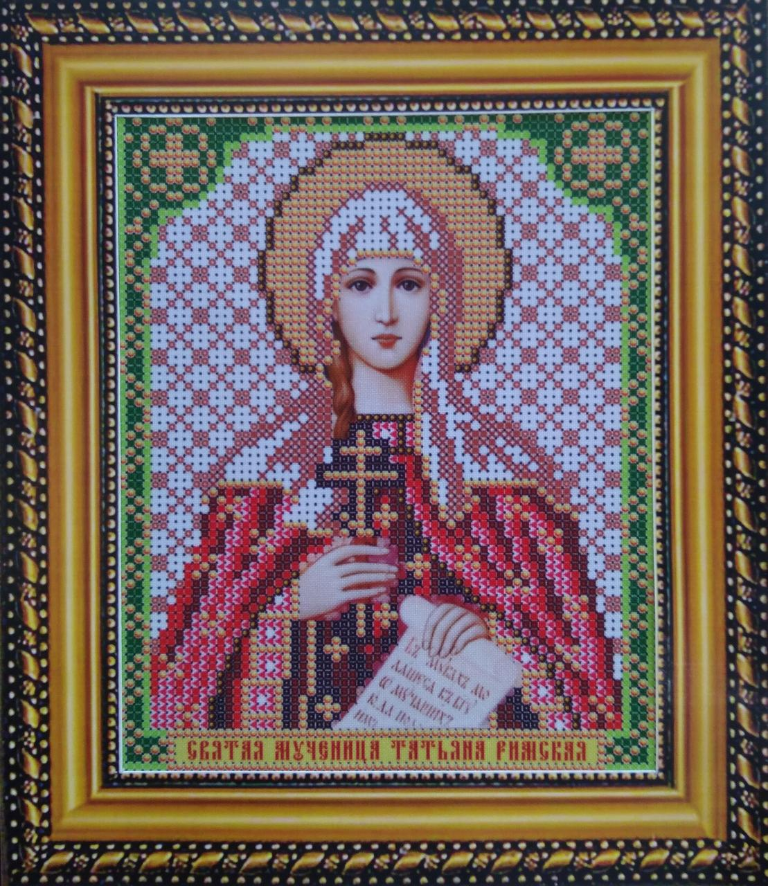 Набор для вышивки бисером ArtWork икона Святая Мученица Татьяна Римская VIA 5158