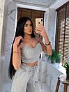 Женский летний костюм брючный с брюками клеш и топом 66ks914Е, фото 2