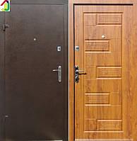 Двері вхідні Бастіон-БЦ Порошок-Економ Б-288 ПВХ-90, двері для квартири, офісу, двері броньовані