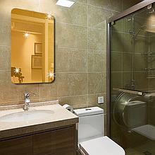 Прямоугольное акриловое зеркало 27×42 см × 0.8 мм золото