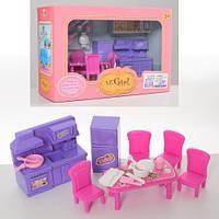 Мебель   кухня-столовая, стол, 4стула, посуда, в кор-ке, 27-18-10см