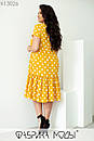 Летнее платье трапеция в больших размерах с оборкой и коротким рукавом 1ba705, фото 6
