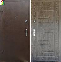 Двері вхідні Бастіон-БЦ Порошок-Економ Б-288 ПВХ-01, двері для квартири, офісу, двері броньовані
