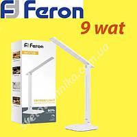 Настольная светодиодная лампа белая Feron DE1725 9W 6400К