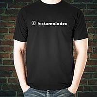 Черная футболка со своим аккаунтом инстаграм, фото 1