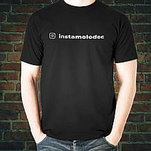 Черная футболка со своим аккаунтом инстаграм