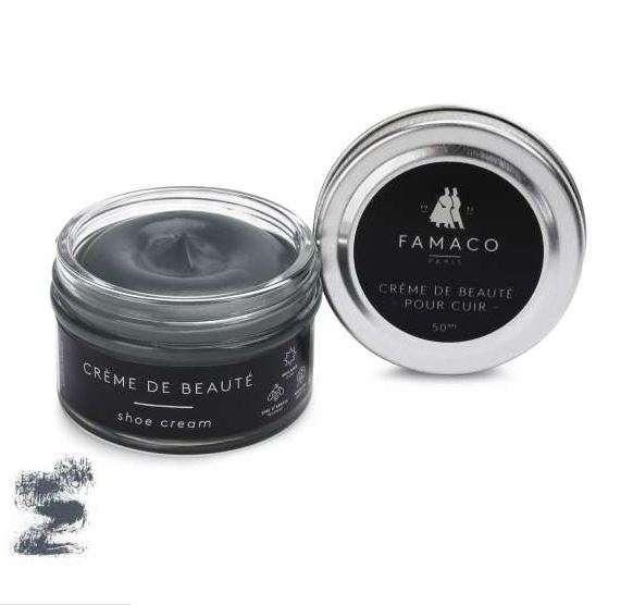 ✅ Темно-серый крем для обуви Famaco Creme De Beaute, 50 мл