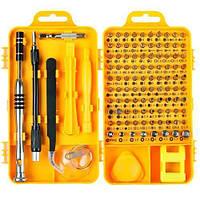 Набор инструментов 110в1 для ремонта электроники, отвертка с 98 битами
