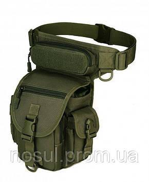 Поясная тактическая сумка (набедренная) green army, leg-bag, многофункциональная, армейская, для путешествий