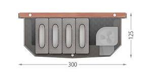 Внутрипольный конвектор с дренажем для бассейнов FCFW125.300(+3)