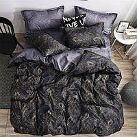 Двуспальный набор постельного белья Черешенка Gold №151310AB 180х220 Бязь Черный (BC2G151310AB)