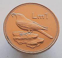 Мальта 1 лира 1986