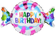 Фол шар фигура ХБ Конфета Happy birthday (Анаграм)