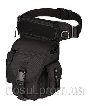 Поясная тактическая сумка (набедренная) черный, leg-bag, многофункциональная, армейская, для путешествий