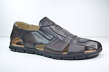 Мужские кожаные сандалии великаны коричневые Cevivo 521