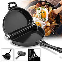 Двойная сковорода для омлета Folding Omelette Pan | Омлетница с антипригарным покрытием
