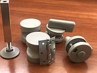 Пластиковый полный комплект фурнитуры для монтажа сантехнических и туалетных кабинок