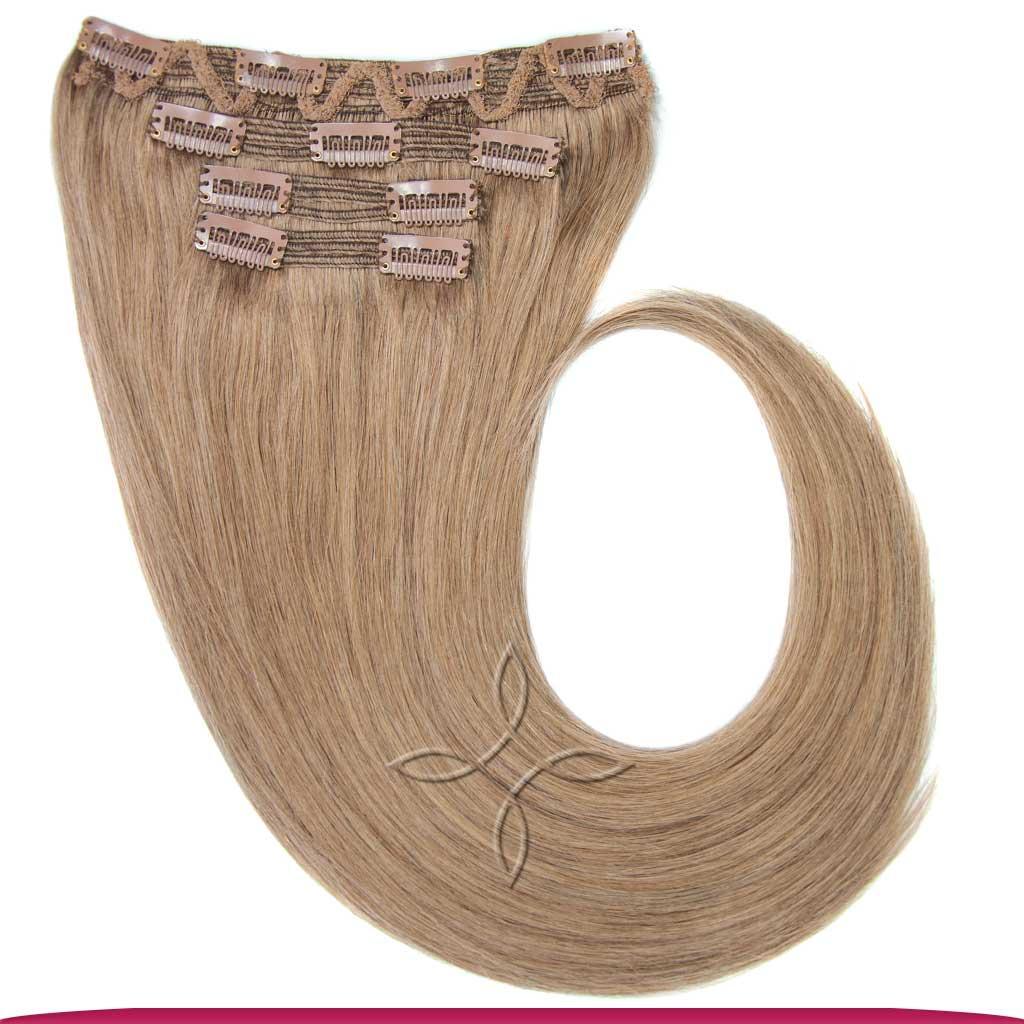 Натуральные Европейские Волосы на Заколках 55 см 110 грамм, Светло-Русый №14