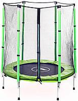 Батут Atleto 140 см с сеткой зеленый