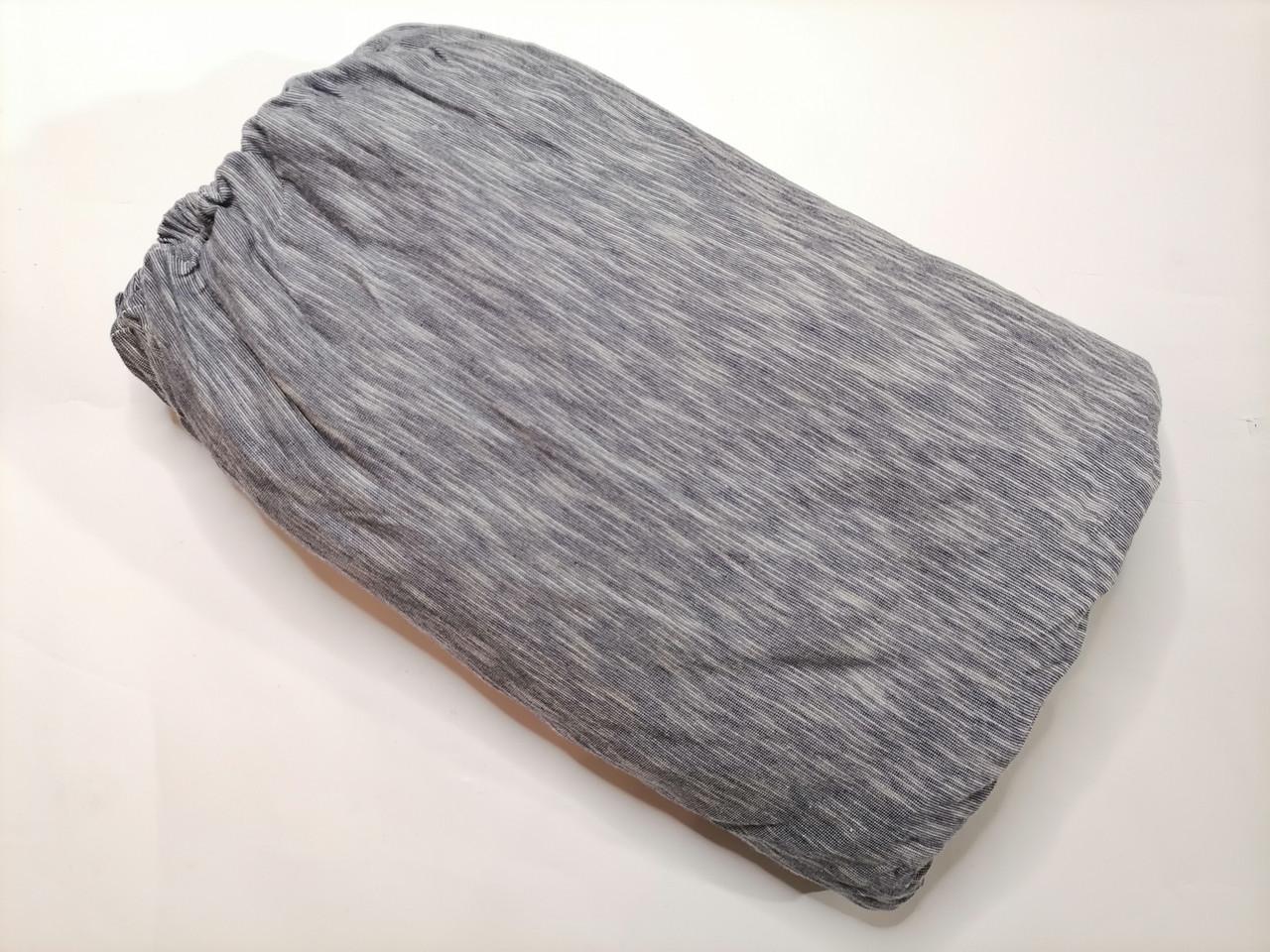Простынь на резинке 160х200 синий меланж