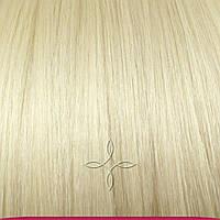 Натуральные Европейские Волосы на Заколках 55 см 110 грамм, Блонд №60