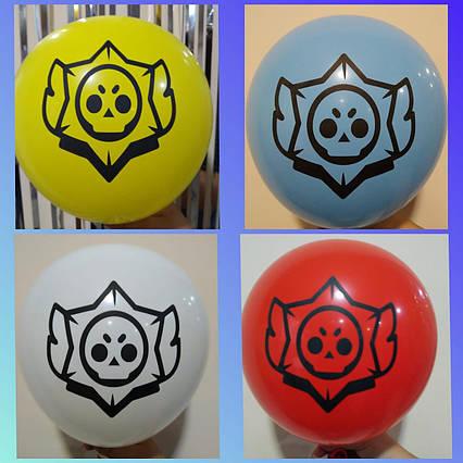 """Набір повітряних кульок Бравл Старс 30 см 12"""" ( комплект 2 шт)"""