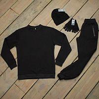 Зимний спортивный костюм мужской + шапка + сенсорные перчатки