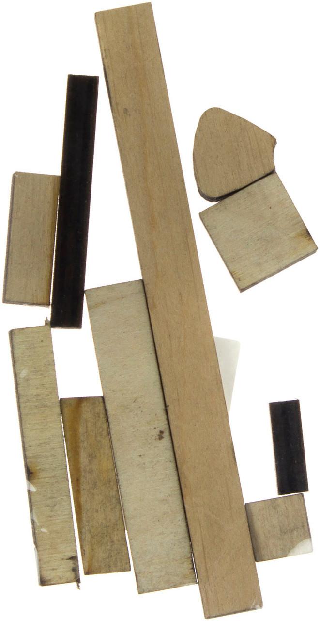 Матеріали для творчості 2-10см (набір 10шт) фанера асорті